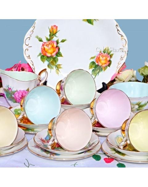 (SOLD) ROSLYN HARRY WHEATCROFT TEA SET
